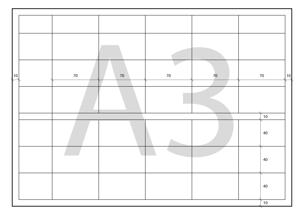 Project Timetable. Artistic Expression. Final work measures scheme for A3 size.