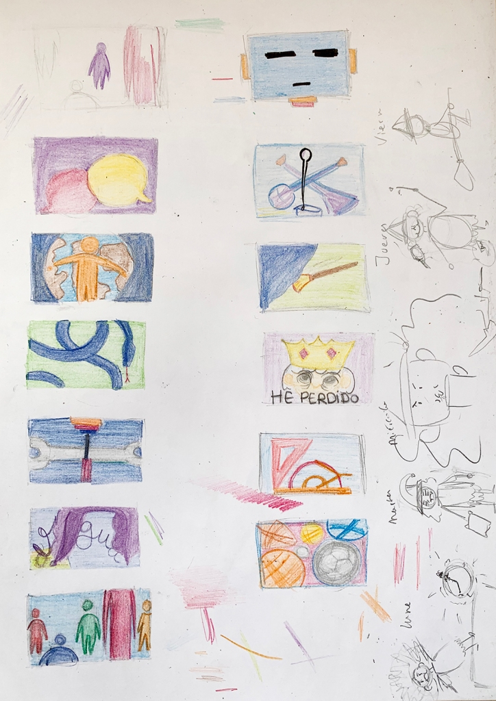 Colour tests examples. Project Timetable. Artistic Expression